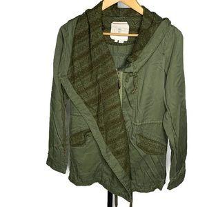Hei Hei Anthro Army Green Lace Cardigan Jacket